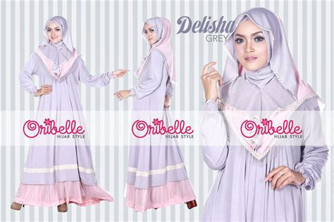 Siria Ruffle Renda oribelle style baju muslim modern