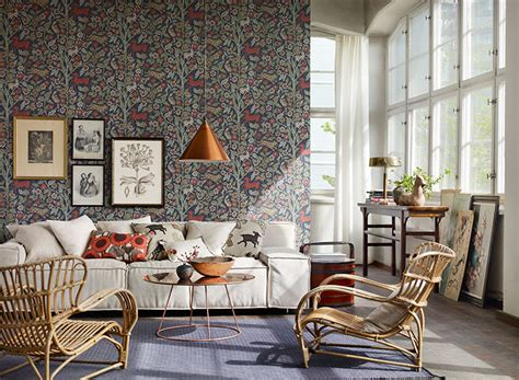 Country Living Room Wallpaper 6 Ways To Enhance Your Room With Designer Wallpaper