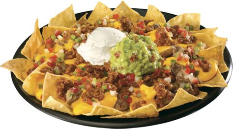 Cheese And Beef Nachos Guacamole And Tortilla Chips Healthy