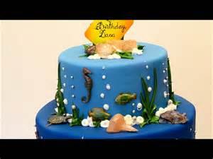 mermaid theme birthday cake beach theme party youtube