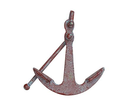 buy rustic whitewashed deluxe cast iron anchor