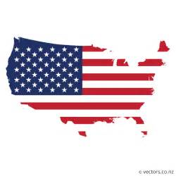 flag vector map of the usa vectors