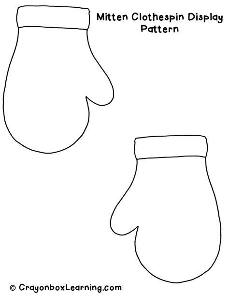 Mitten Template Printable printable mitten pattern template teaching
