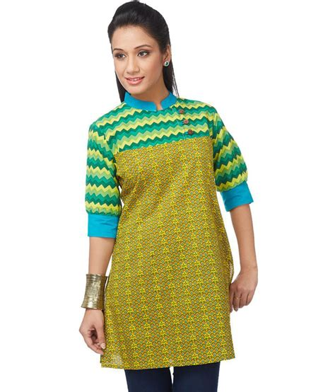Diba Tunic 3 N1 buy enah yellow cotton tunics at best prices in india snapdeal