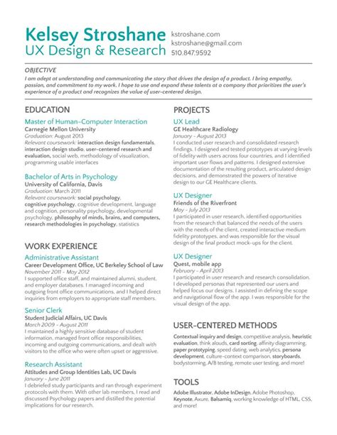 Resume Template User Experience 8 best images about ux designer resume on behance editor and resume design