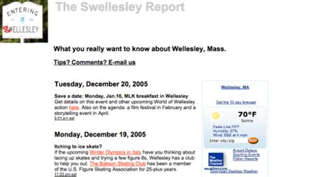 Swellesley Report the swellesley report turns 9 the swellesley report news about wellesley massachusetts