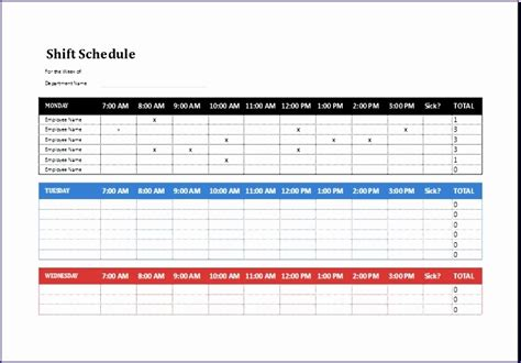 8 Employee Shift Schedule Exceltemplates Exceltemplates Microsoft Excel Timetable Template