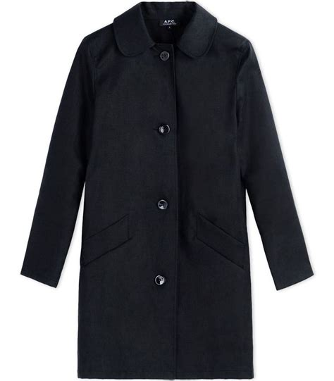 black dolly coat a p c black dolly canvas raincoat coats outerwear
