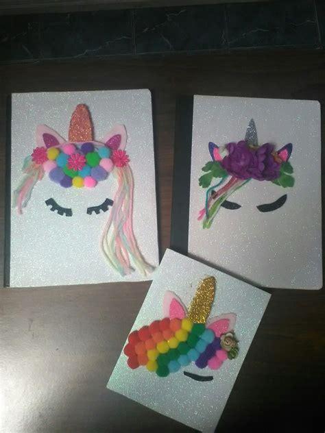 cuadernos decorados de unicornio con foami cuadernos decorados con motivo de unicornio