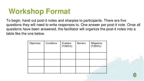 workshop templates intranet strategy workshop template