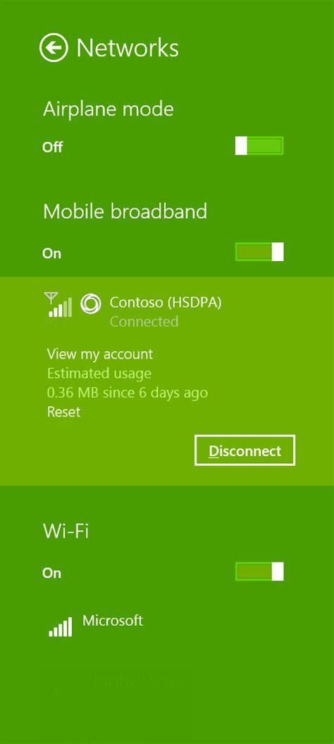 design guidelines windows 10 design branding in a mobile broadband app