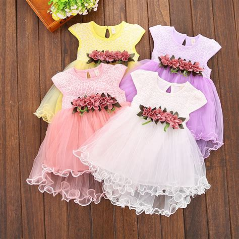 Princes Gown Tutu Dress Baby 8 Thn Code A3 2017 summer princess baby floral dress toddler tutu gown dresses one