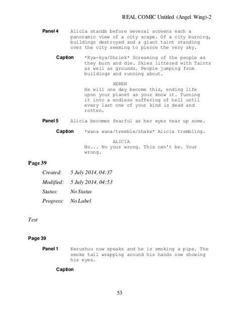 untitled wing new chapter one draft script