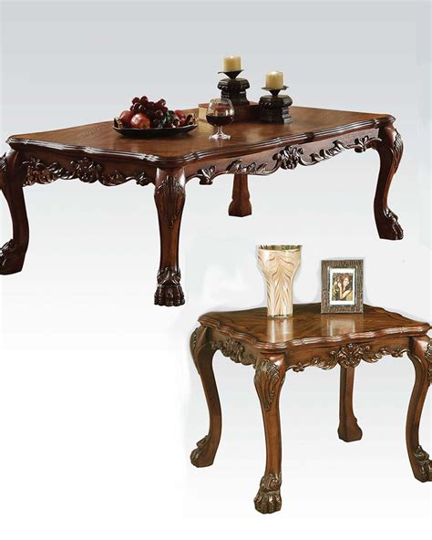 traditional style coffee tables coffee table in traditional style dresden by acme ac12165set