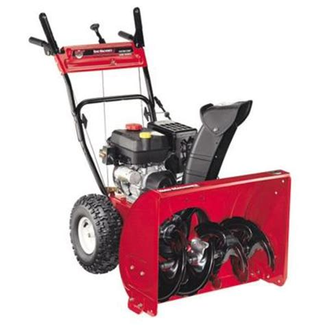 yard machines 26 in 208 cc two stage electric start gas