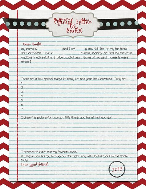 printable letter from santa 2014 official letter from santa 2014 letter of recommendation