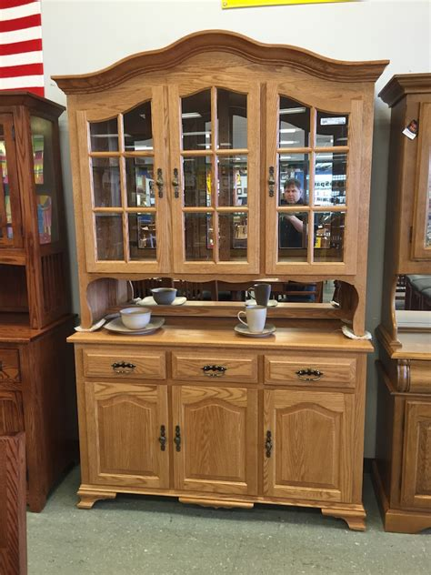 oak amish hutch buffet china mission style cabinet amish china cabinet mf cabinets