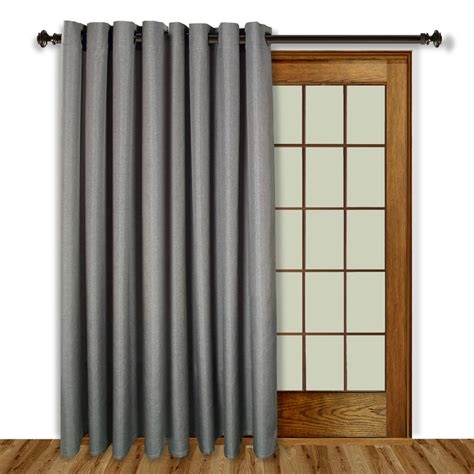 the curtain shoppe glasgow grommet top patio panel with wand