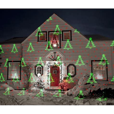 christmas lights projected on house the display laser light projector hammacher schlemmer