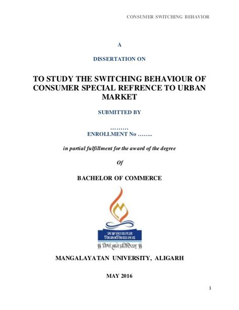 consumer behaviour dissertation consumer behaviour dissertation