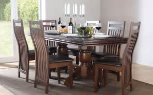 Hardwood Dining Room Furniture Chatsworth Java Extending Wood Dining Table 4 6 Chairs Set Brown Ebay