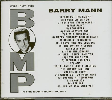 barry mann who put the bomp barry mann cd who put the bomp collection cd