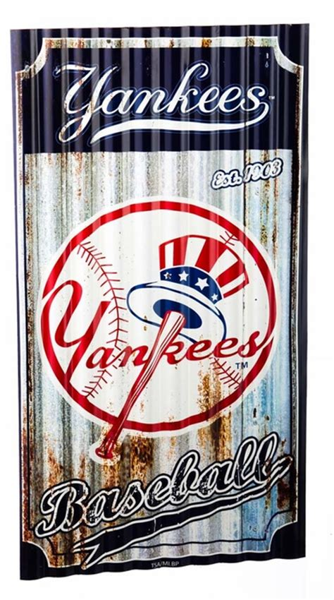 yankees wall decor new york yankees corrugated metal wall