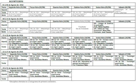 cronograma declaraciones de predios 2016 cronograma de aulas 2016 2 ci 234 ncias farmac 234 uticas