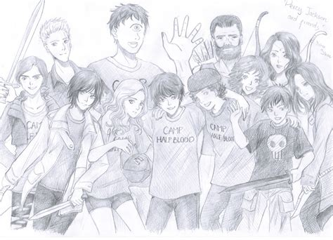 Percy Jackson And Friends By Chibisasori1827 On Deviantart Percy The Coloring Pages
