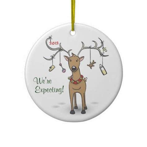 pregnancy ornament reindeer expecting parents to be