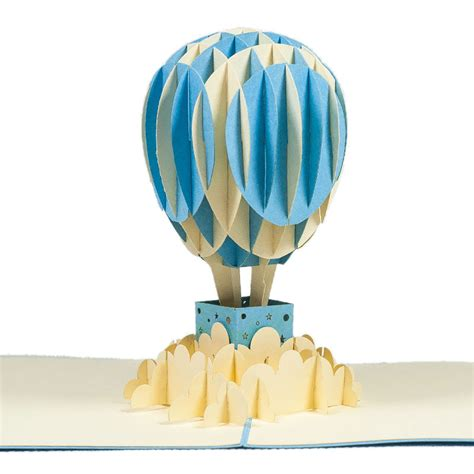 balloon pop up card template air balloon card custom 3d card manufacturer custom