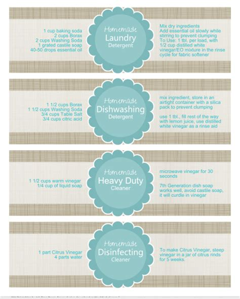 printable product labels cucculuccia free printable labels for homemade cleaning