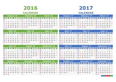 Calendar Week Numbers Printable 2016 2017 Calendar Template Yearly Calendar
