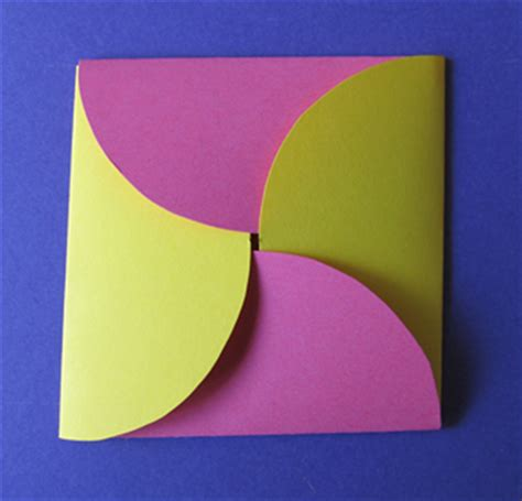 How To Make A Envelope Out Of Paper - how to make an envelope from circles