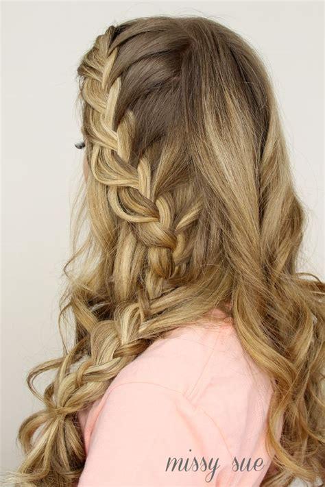 giving boy feminine braids half up side french braid hair pinterest french