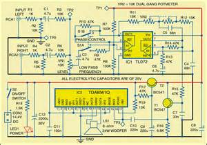 subwoofer for cars circuit diagram electronic circuits