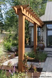 perfect small pergolas  arbors skinny garden