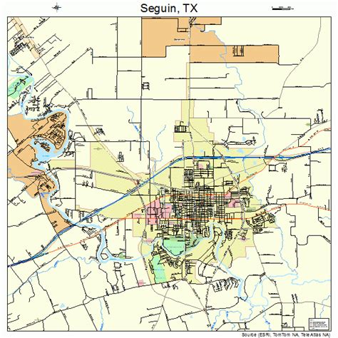 where is seguin texas on a map seguin texas map 4866644