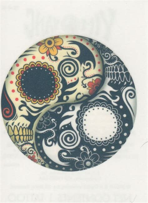 made in the usa forever temporary yin yang day of the dead skull made in