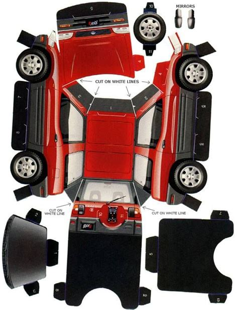 Toyota Papercraft - 853 best images about car papercraft on