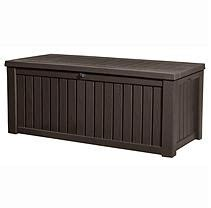 Sarung Gallon Atg 61 keter rockwood outdoor plastic deck storage container box 150 gal brown decks deck box and boxes