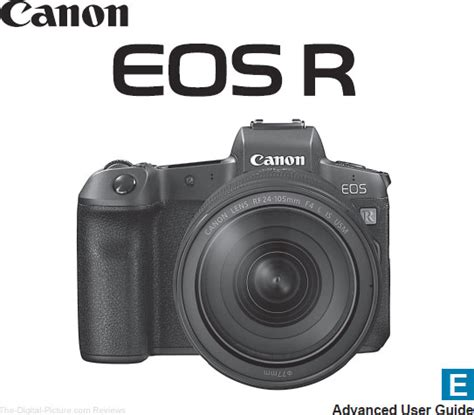 Canon Eos R User Manual Available For Download