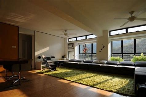 Grass Interior Design by Grass Rug Home Office Room