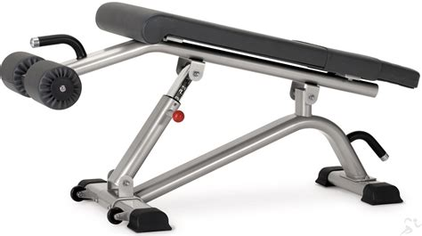 ab decline bench star trac instinct adjustable abdominal decline bench in b7200 new