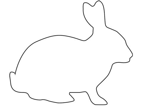 rabbit cut out template easter bunny outline cliparts co