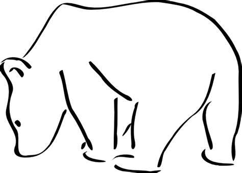 polar bear outline clipart best