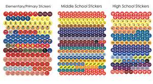 Wall Stickers Usa reminder planning stickers for school agenda