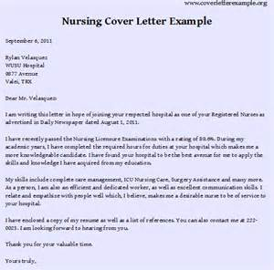 exle of a cover letter for a nursing nursing cover letter exles best resume format