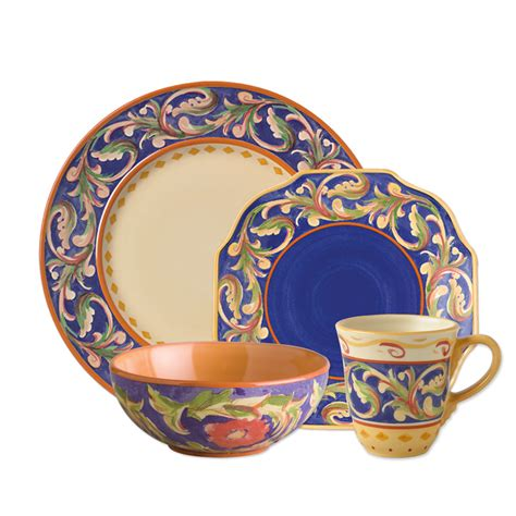 Tenun Set 16 By Amazone pfaltzgraff villa della blue 16 dinnerware set