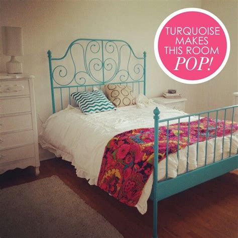 ikea twin bed hack turquoise painted leirvik bed frame from ikea mi casa